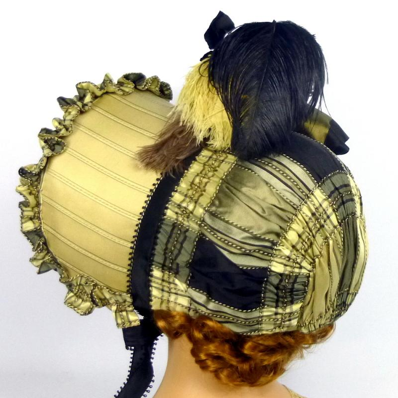 Beautiful reproduction of an 1800s visiting bonnet hat