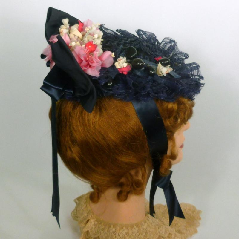 reproduction 1870s Victorian Traveling Hat